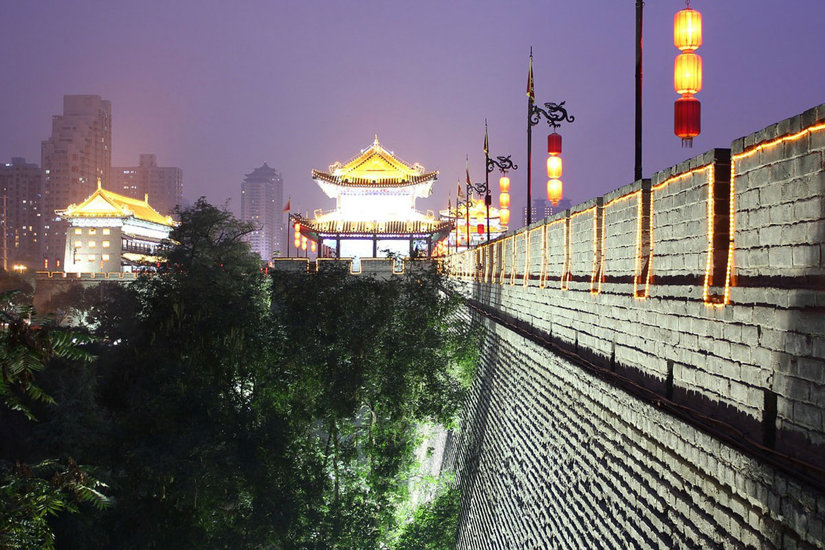 Photo. City wall. Xi'an.